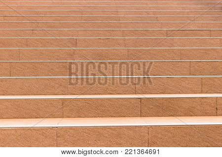 Light Orange Tile Of Stairs