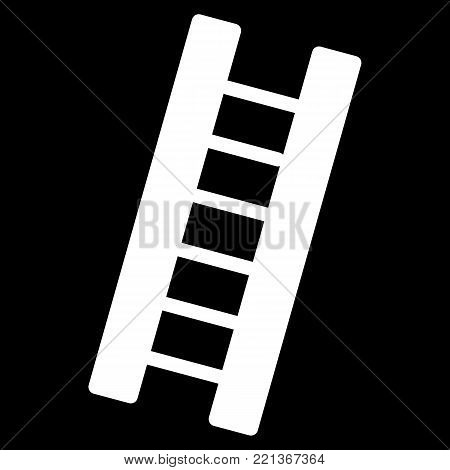 Ladder simple vector icon. Black and white illustration of ladder. Solid linear icon. eps 10