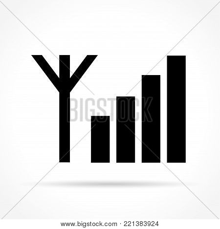 Illustration of signal icon concept on white background