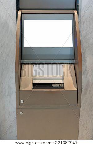 Gold Passbook Update Machine. The station automatic machine.