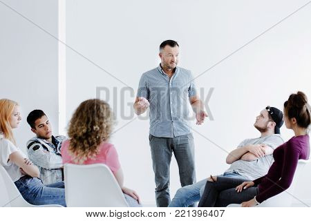 Counselor Talking With Rebellious Girl