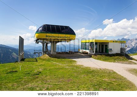 Cable Car Mountain Station At Planai Bike And Ski Areal In Schladming, Austria