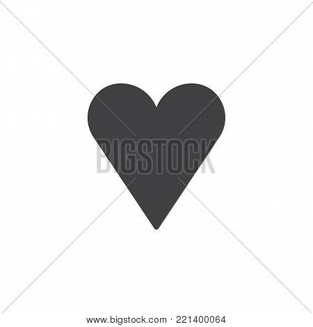 Heart icon vector, filled flat sign, solid pictogram isolated on white. Favorite love symbol, logo illustration.