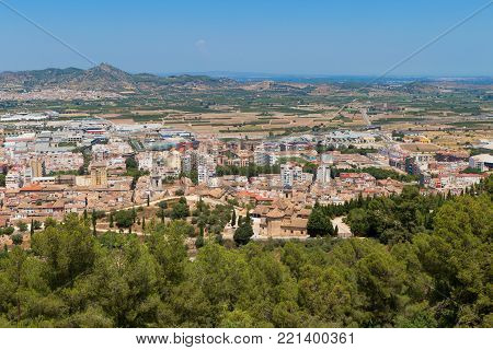 View from the mountain over Xativa town