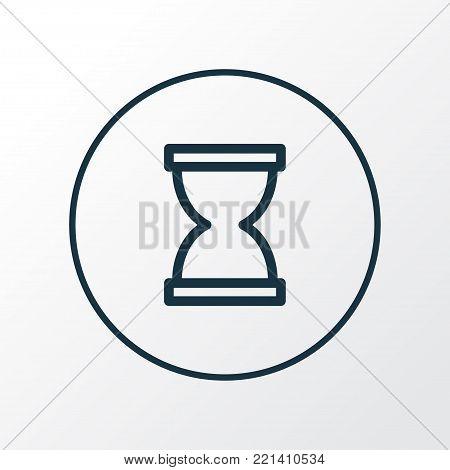 Sandglass icon line symbol. Premium quality isolated hourglass element in trendy style.