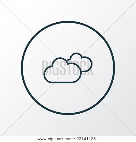 Cloudy sky icon line symbol. Premium quality isolated overcast element in trendy style.