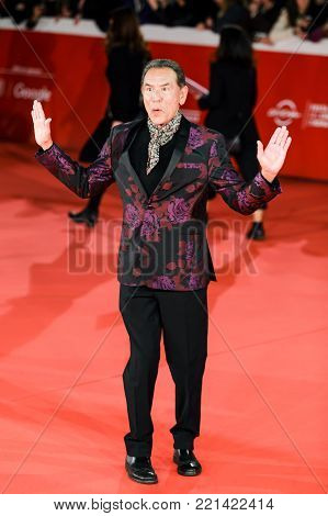 ROME, ITALY - OCTOBER 26: Wes Studi walks a red carpet for 'Hostiles' during the 12th Rome Film Fest at Auditorium Parco Della Musica