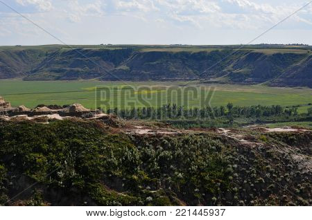 Hoodoo Rock Formations in Canyon in Summer