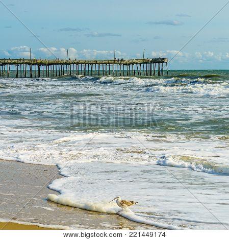 Virginia Beach Fishing Pier and Boardwalk, Virginia Beach, Virginia, USA