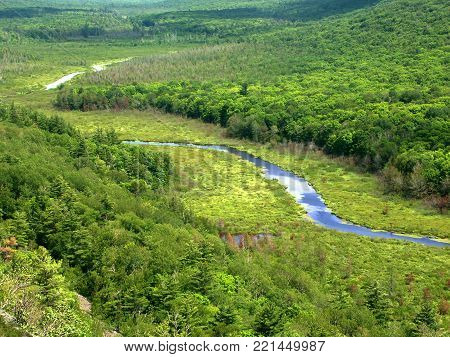 The Big Carp River at Porcupine Mountains State Park in Michigans upper peninsula
