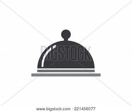 Food Cover Icon Stock Vector