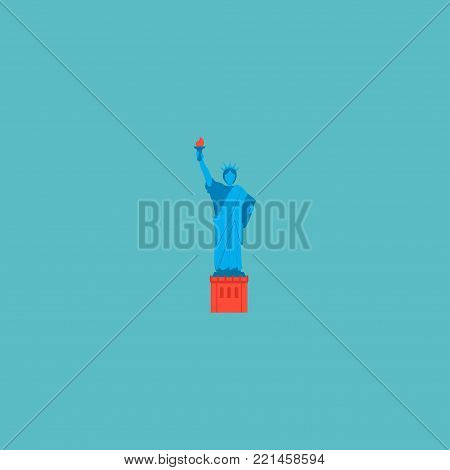 Statue of liberty icon flat element.  illustration of statue of liberty icon flat isolated on clean background for your web mobile app logo design.
