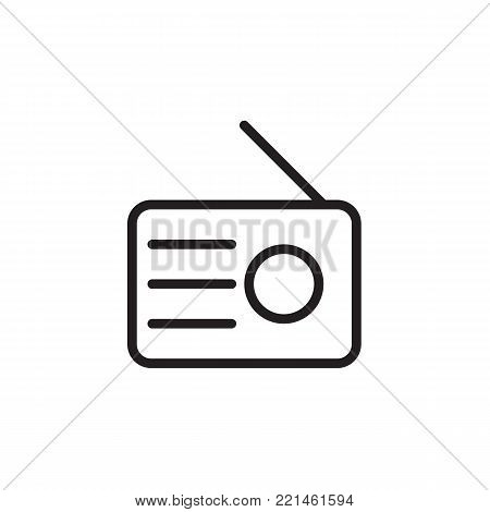 Radio icon in trendy flat style isolated on background.