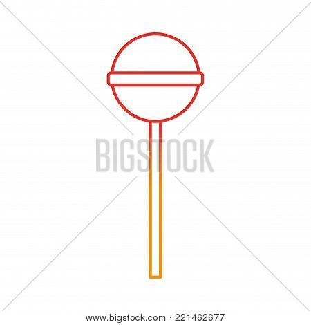 Lolly pop of candy sweet sugar and caramel theme Isolated design Vector illustration
