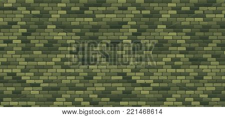 February 23 Background. Defenders of Fatherland Day. Green brick wall. Military texture ornament. National Military holiday in Russia. Template for postcard.