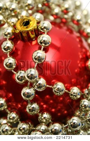 Red Glass Sphere For A New Year's Fur-tree