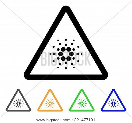Cardano Danger icon. Vector illustration style is a flat iconic cardano danger black symbol with grey, yellow, green, blue color versions. Designed for web and software interfaces.