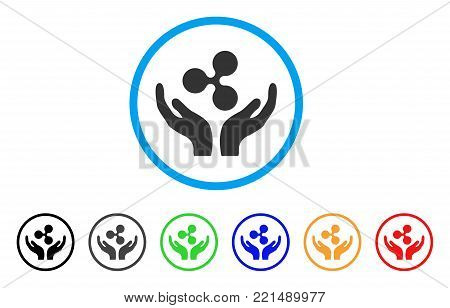Ripple Maintenance Hands rounded icon. Style is a flat grey symbol inside light blue circle with bonus colored variants. Ripple Maintenance Hands vector designed for web and software interfaces.