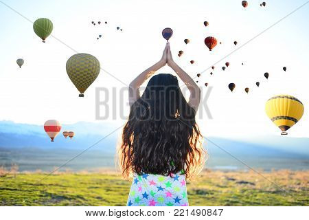 Cappadocia balloons, peace, happiness and tourism & freedom