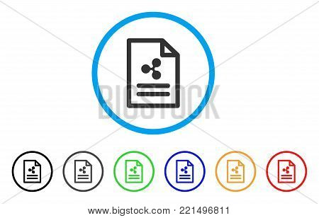 Ripple Invoice rounded icon. Style is a flat grey symbol inside light blue circle with bonus colored variants. Ripple Invoice vector designed for web and software interfaces.