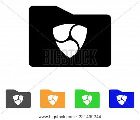 Nem Catalog icon. Vector illustration style is a flat iconic nem catalog black symbol with gray, yellow, green, blue color variants. Designed for web and software interfaces.