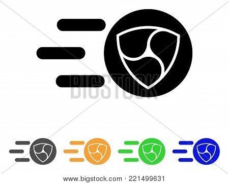 Nem Trace icon. Vector illustration style is a flat iconic nem trace black symbol with grey, yellow, green, blue color variants. Designed for web and software interfaces.