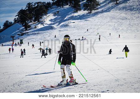 Ski Resort Vasilitsa In The Mountain Range Of Pindos, In Greece.