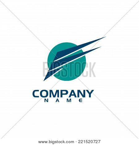 Badge company wing logo. Abstract wings vector logo for delivery, cargo, business companies. business wing logo, icon wing fast illustration