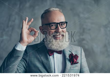 Cooperating People Concept. Hello! Vertical Portrait  Excited Confident Freelancer Wearing Stylish T