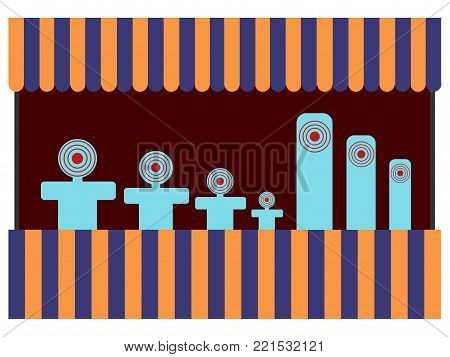 Theme park shoot game on a white background, Vector illustration