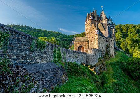 Burg Eltz castle in Rhineland-Palatinate state, Germany. Construction startedprior to 1157.