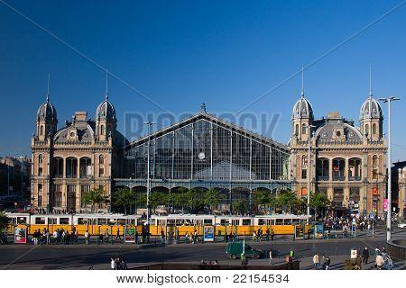 Nyugati pályaudvar train station in Budapest