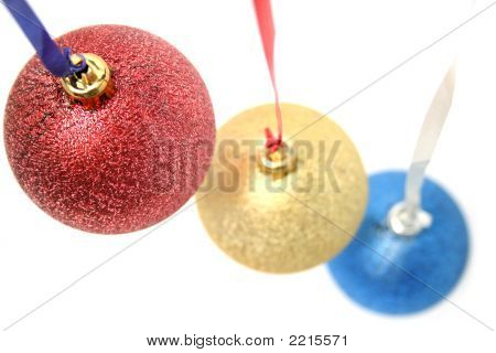 Celebratory Ornaments In The Form Of Glass Spheres