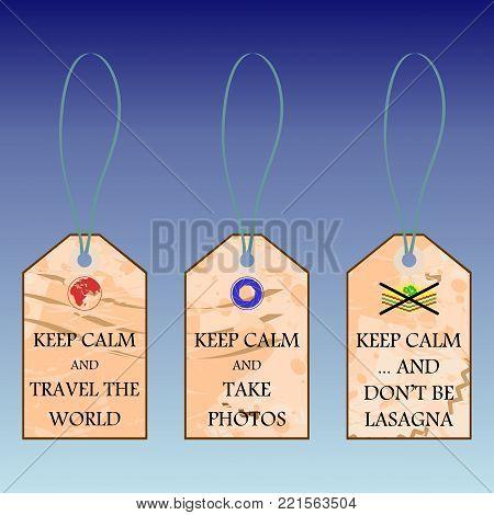 Jokeful motivational shortcuts with text Keep calm