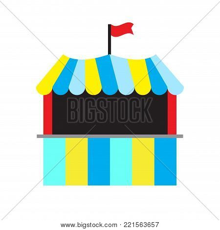 Carnival tent on a white background, Vector illustration
