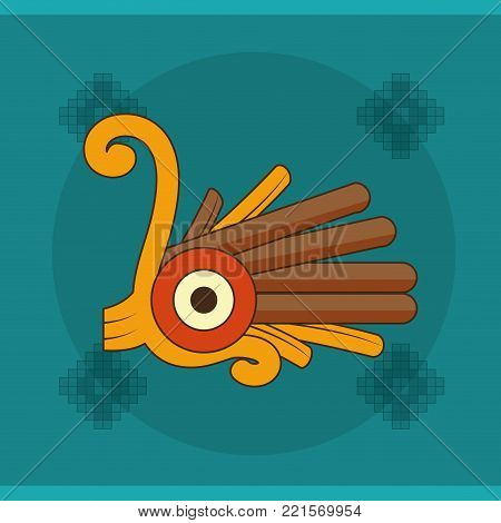Shape of  maya culture and mexican landmark theme Vector illustration