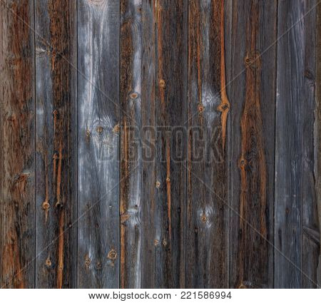 Brown, wooden, grey, blank, vintage backdrop. Space for text, abstract, close up view with details.