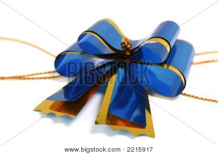 Dark Blue Celebratory Bow For A Gift