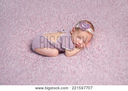 Little newborn baby sleeping
