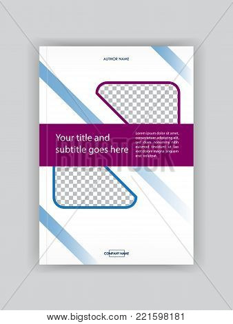 Business Book Cover Design Template. Good For Portfolio, Brochure, Annual Report, Flyer, Magazine, A