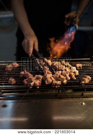 Asian Style Barbecue Cooking