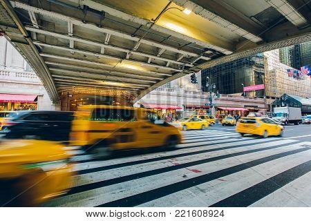 New York, Usa - Nov 27, 2017: Grand Central Terminal (gct) , The Main Railway Station, 42nd Street A