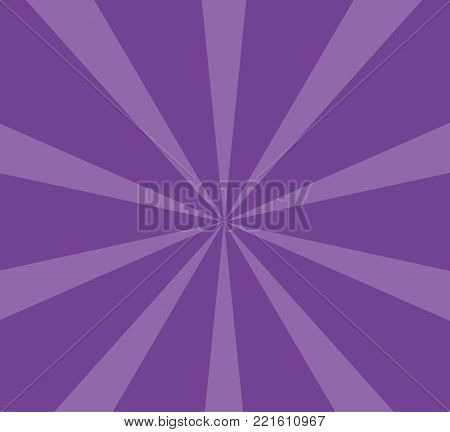 Radiating from the center of thin beams, lines Vector illustration. Design element for logo, signs Dynamic style Abstract explosion, speed motion lines from the middle, radiating sharp  Purple, violet
