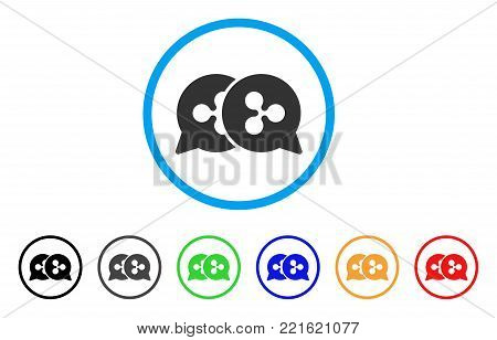 Ripple Bids rounded icon. Style is a flat gray symbol inside light blue circle with bonus colored variants. Ripple Bids vector designed for web and software interfaces.