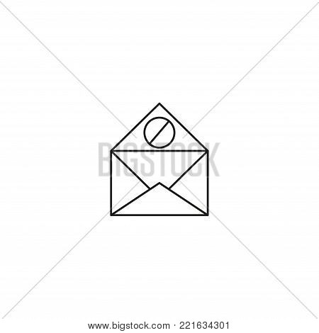 spam mail line vector simple web graphic icon