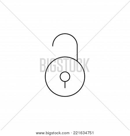 unlocked line line vector simple web graphic icon poster
