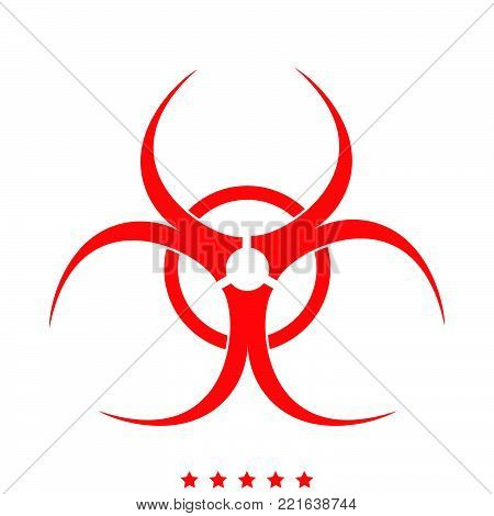 Biological danger icon  Different color  It is imple style  .