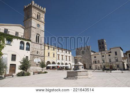 Cittaducale (rieti, Italy): The Main Square
