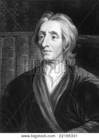 John Locke (1632-1704). Engraved by J.Pofselwhite and published in The Gallery Of Portraits With Memoirs encyclopedia, United Kingdom, 1836.
