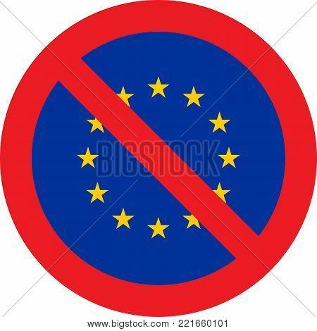 No European Union allowed sign on white background